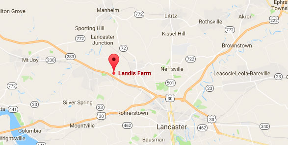 Landis Farm location on map